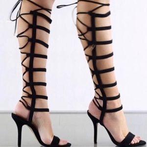 ~ALDO Hastina Black Suede High Heels~